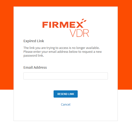 I am being directed to an expired password link – Firmex